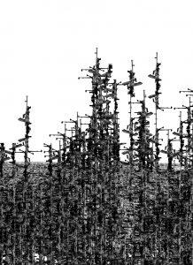 Lisa Sartorio, Bren MK1, série L'écrit de l'histoire, 2014, courtesy Galerie Binome édition de 5 (+1EA) - 66x51,5 cm - édition de 3 (+1EA) - 116x90,5 cm tirage encre pigmentaire sur papier Harman Hahnemühle matt cotton smooth contrecollage sur aluminium, encadrement chêne