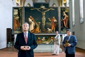La société du musée – Jean Lorentz, président, société Schongauer, Musée Unterlinden, Colmar (Haut-Rhin), série Musée national