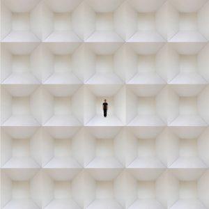 Fabien de Chavanes, autoportrait quantique #1, série Puits carrés, 2010, courtesy Galerie Binome